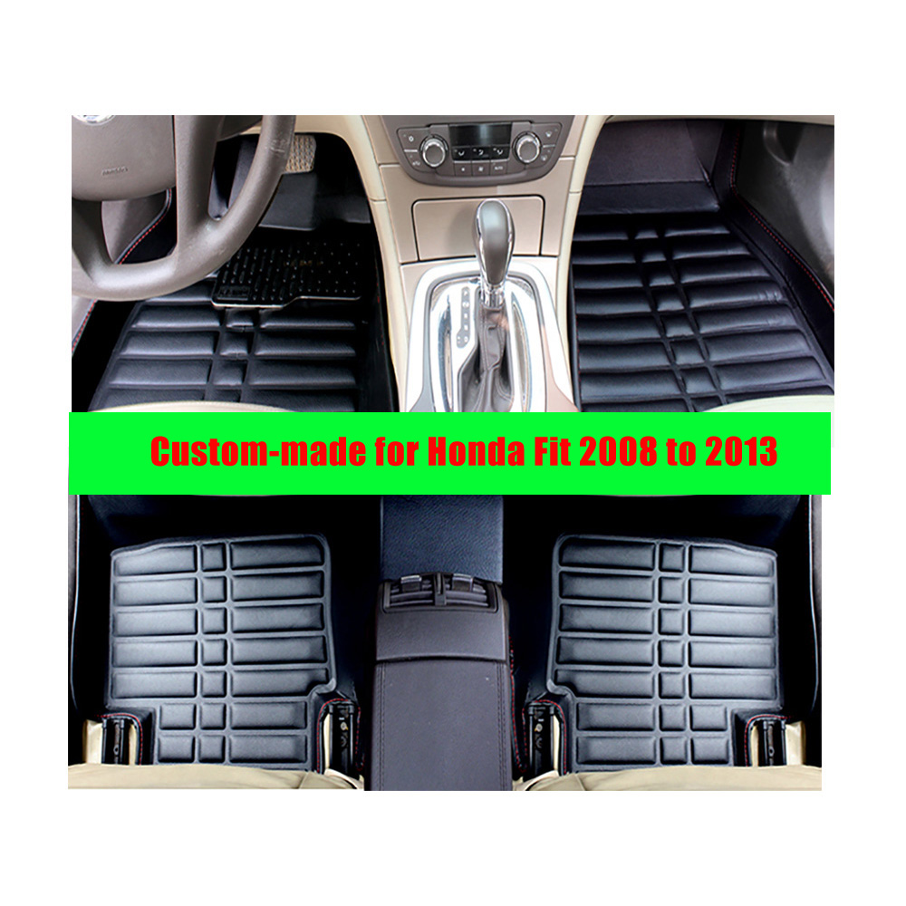 Fly5d car floor mats for honda fit 2008 to 2013 left hand drive car styling