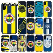 цена на Ruicaica Fenerbahce Soft Silicone black Phone Case for iPhone X XS MAX 6 6S 7 7plus 8 8Plus 5 5S XR