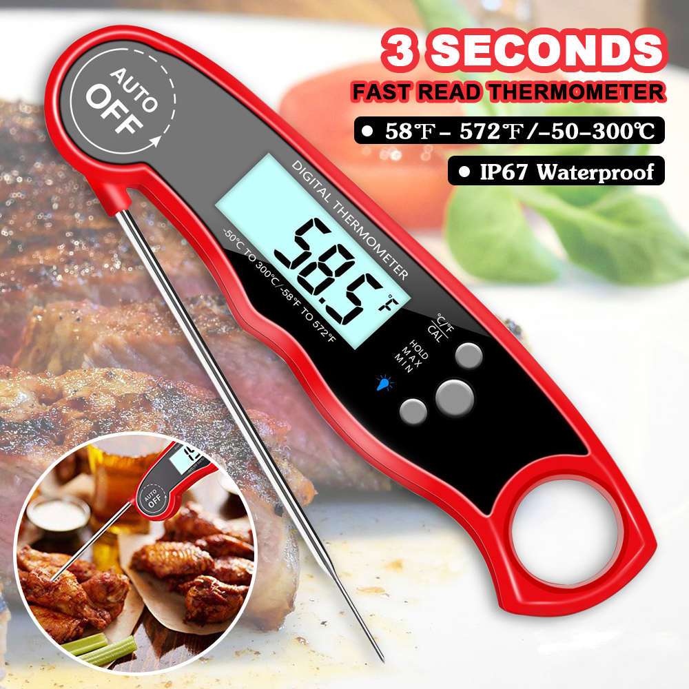 Waterproof IP67 Electronic Digital Fast Read Thermometer for Cooking Meat  Food Kitchen Probe Water Milk Oil ThermometerWaterproof IP67 Electronic Digital Fast Read Thermometer for Cooking Meat  Food Kitchen Probe Water Milk Oil Thermometer
