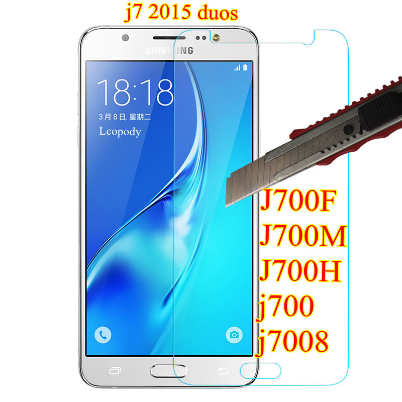 Tempered Glass For <font><b>Samsung</b></font> GALAXY j7 duos screen protector film fOR <font><b>samsung</b></font> <font><b>sm</b></font> J700F J700M <font><b>J700H</b></font> j700 j7008 GLAS sklo an mobil image