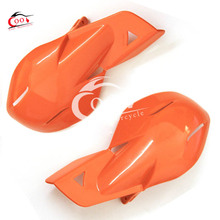 1 Pair Orange Plastic Motorcycle Handguards Hand Guards For Honda Yamaha Dirt KTM MX ATV