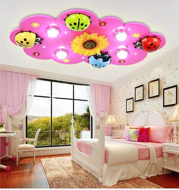 kinderen brandt jongens en meisjes led plafondlamp creatieve cartoon kever slaapkamer lamp kinderkamer verlichting