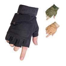 Black Hawk Combat Half Finger Anti-slip Military Tactical Gloves M/L/XL