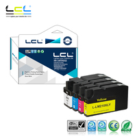 LCL 210XL 210 XL (4 Pack Black Cyan Magenta Yellow) Ink Cartridge Compatible for Lexmark OfficeEdge Pro4000c 4000 5500 5500t