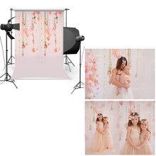 Mehofoto винил фотографии Задний план новый Ткань фланель фон розовый стены цветочные для Для детей новорожденных фотостудия cm6714