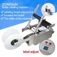 ZONESUN 220V 110V High Quality Semi Automatic Round Bottle Labeler Machine LT 50 Bottle OD 15