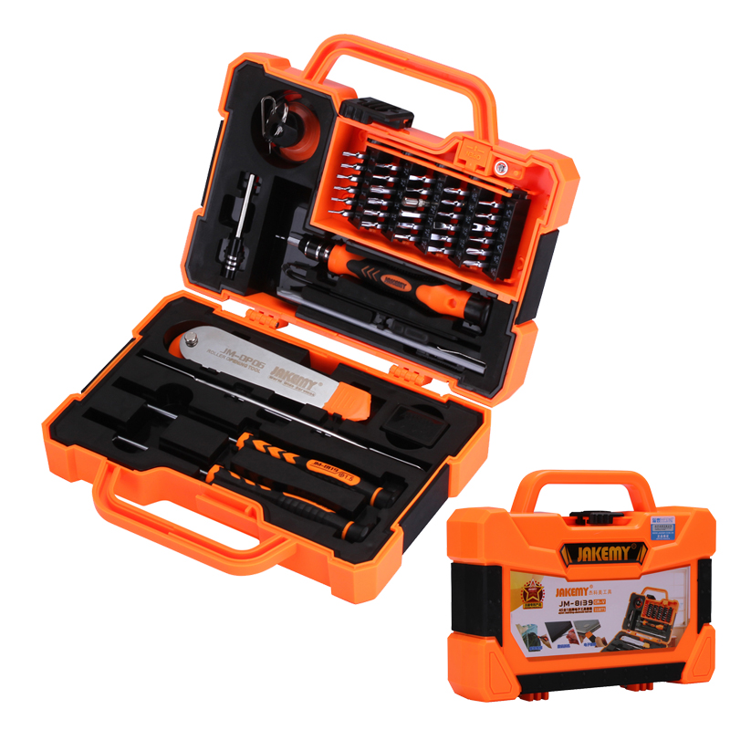 JAKEMY 45 in 1 Professional Precision Screwdriver Set Multitool Opening Tools for Cellphone Computer Electronic Maintenance