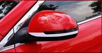 カーアクセサリーサイドミラートリムバックミラートリム自動車部品用起亜リオk2 absクローム2ピースあたりセッ