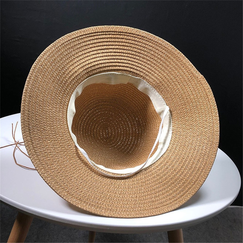 d36b43dce5c56 Womens Floppy Summer Sun Beach Straw Hat UPF50 Foldable Wide Brim beach  hats fashion summer hats for women-in Sun Hats from Apparel Accessories on  ...