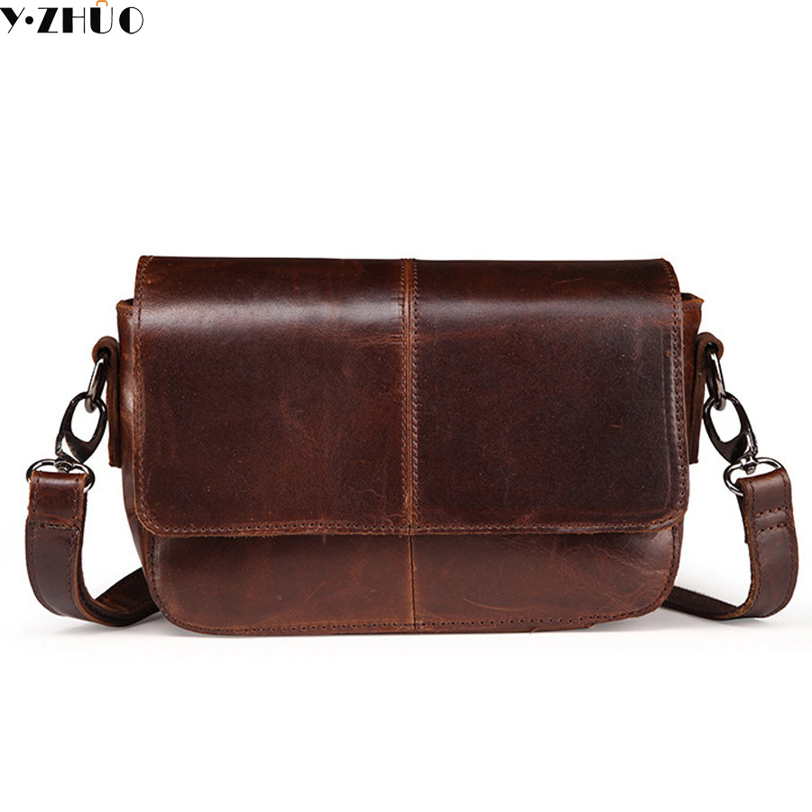 genuine leather woman men shoulder bags casual really cowhide crossbody bags men messenger bags Hot Sale men travel bags