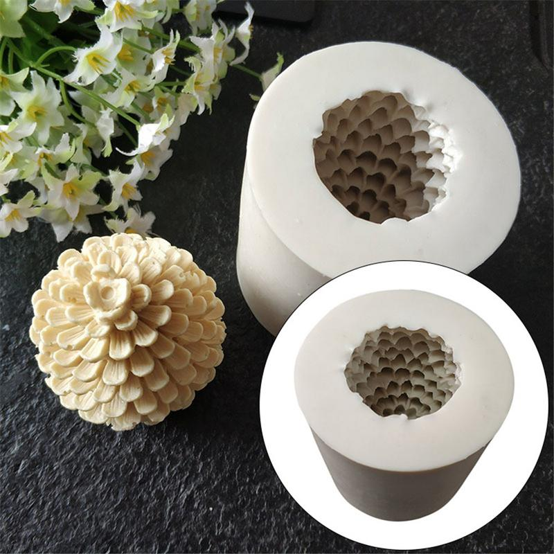 Christmas Pine Cones Tree Silicone Candle Soap Mould Mold Silicone Molds For Candle Making Chocolate Cake Decoration Tool