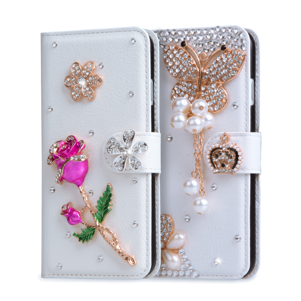 separation shoes 41df2 439ae Coque For HTC Desire 530 Case Glitter 3D Rhinestone Wallet PU ...
