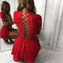 Cropped Tops Shorts Women Two Pieces Tracksuit Hollow Out Lace Backless Women 'S Sexy Lace Up Summer Kawaii Suits Plus Size sexy hollow out lace women s shorts
