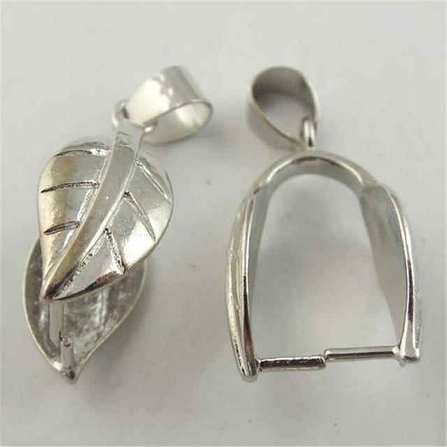 Graceangie 8pcs atq silver look leaf pendant bail jewelry findings graceangie 8pcs atq silver look leaf pendant bail jewelry findings clasps 28129mm aloadofball Images