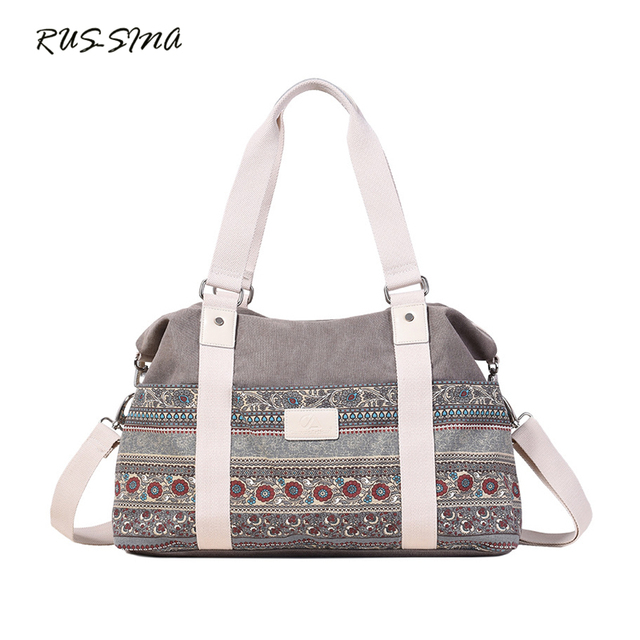 7731e882a8f1e New Fashion Women Canvas National Striped Handbag Large Capacity Casual Tote  Zipper Shoulder Bag Silt Crossbody Bag YNS-TG-119