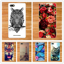 """For BQS-5020 Cases Luxury Diy UV Painting Colored Tiger Owl Rose Eiffel Towers Soft Tpu Case For BQ 5020 BQ Strike 5.0"""" Cover"""