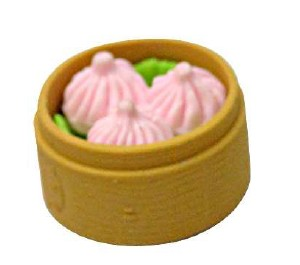 Typical Chinese Steam Bread Eraser Set With Eastern Culture For Memorable Eraser  Promotion Eraser School Eraser