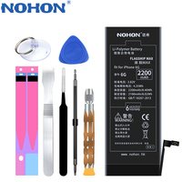 Original NOHON Li Polymer Battery For IPhone 6 Rechargeable Battery For Mobile Phone 2200mAh Max Capacity