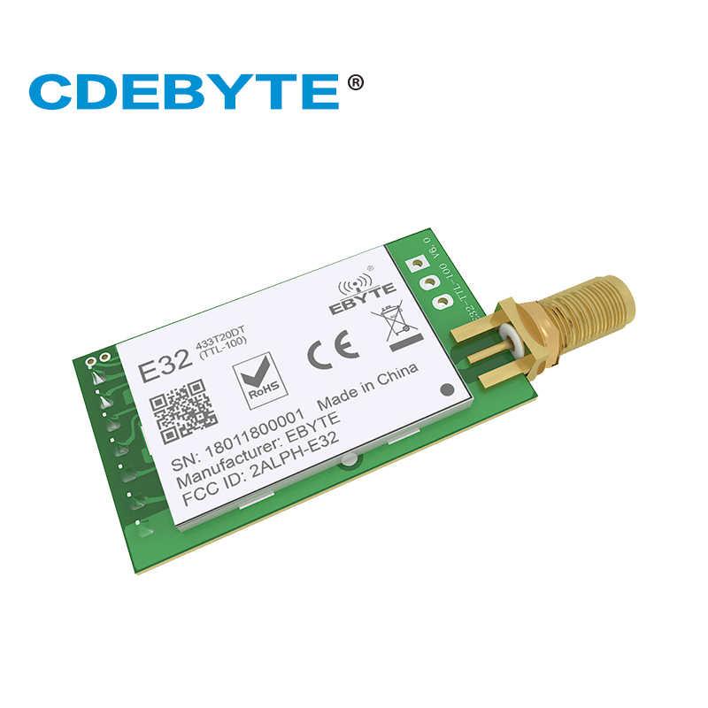 E32-433T20DT LoRa Longe Range UART SX1278 433mhz 100mW SMA antena IoT uhf módulo transmisor receptor inalámbrico