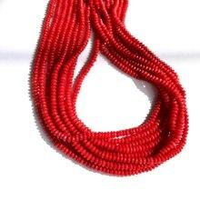 Оптовая продажа 1 нитка натуральный красный коралловый бисер