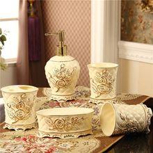 5 Stücke Set Haushalt Waschen Pinsel Cup, Liquid Seifenspender,  Seifenschalen Europäischen Keramik Badezimmer Set Zubehör