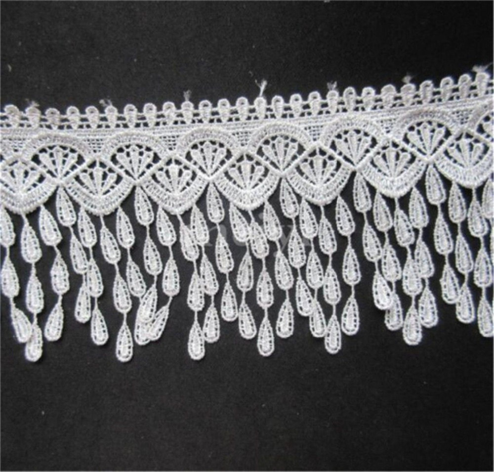 5Yard Tassel Fringe Lace Edge Trim Wedding Dress Ribbon DIY Sewing Craft Decor