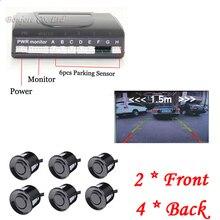 цена на Universal Car detector Auto Parking Sensor Reverse Backup Assistance Radar image System Parktronic with 6 sensors Parking system