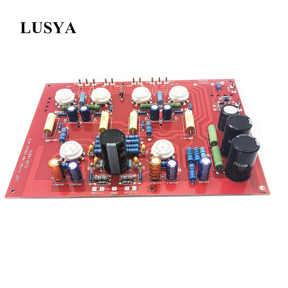 Lusya Hi End Stereo Push Pull EL84 Vaccum Tube Amplifier PCB DIY Kit AUDIONOTE PP Circuit