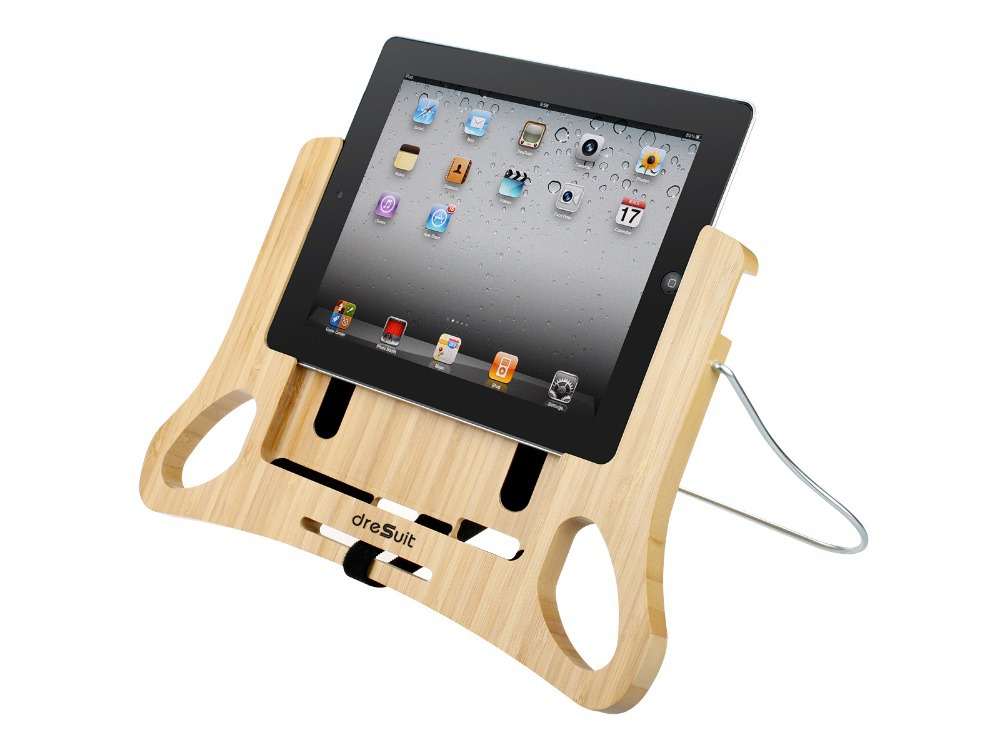 DreSuit ComforPad Bamboo Stand Holder for iPad 2 3 4 Tablet for reading in  Bed sofa couch, Adjustable angle, Easy slide in/out-in Tablet Stands from  ...