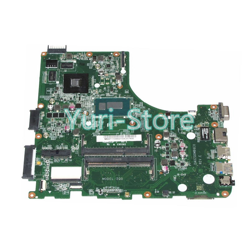 NOKOTION Laptop Motherboard DA0ZQ0MB6E0 For Acer aspire V3-472 V3-472P NB.V9T11.006 NBV9T11006 I3-4005U GT820m Video Card