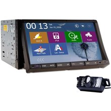 "2015 New Win 8 GPS Navigation 7"" HD Double 2 Din Car Audio Stereo Radio DVD CD Player Universal Car PC iPod Bluetooth +Camera"