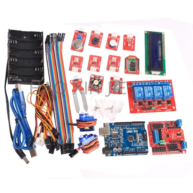 Zero-based learning environment monitoring intelligent home appliance control kit  UNO R3 platform