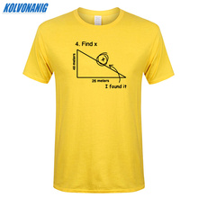 Mathematical Triangle Math Science Funny Print Men T Shirt Summer Street Style Problem Solving Cotton Short Sleeve Mens T-Shirt