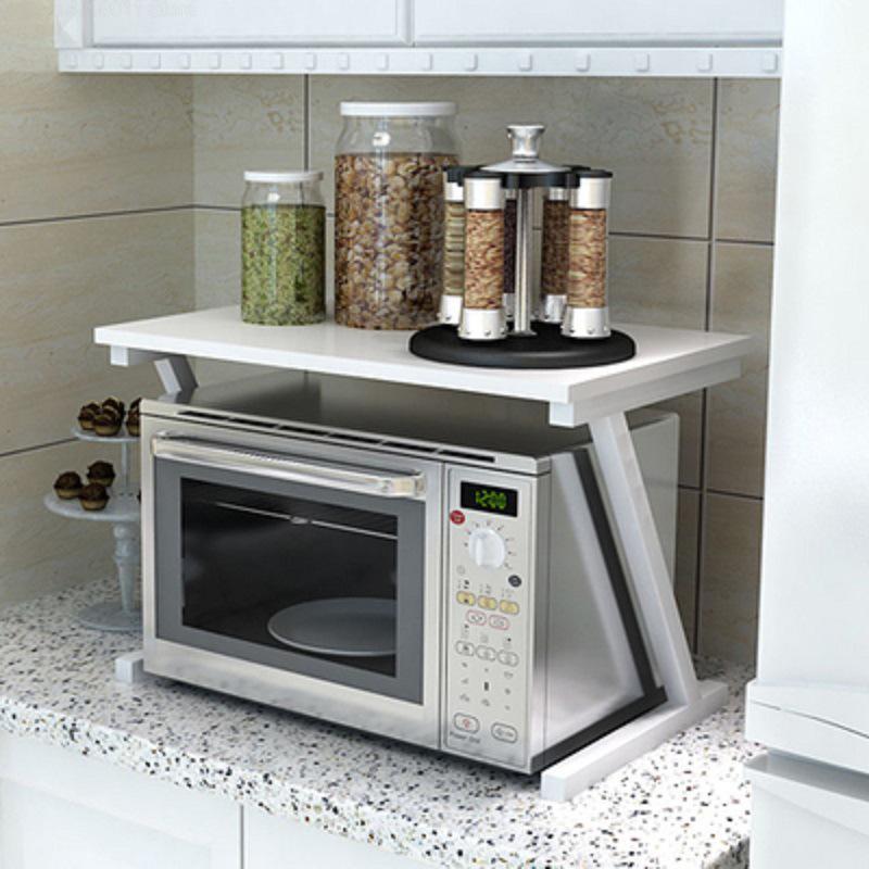 blanco Spice Rack armario estanter/ías estante de cocina estante para horno de microondas 57 x 38 x 38 cm estante para horno microondas Estanter/ía de cocina