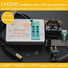SPI FLASH  USB Programmer CH2015+TFBGA24 to DIP8 Adapter BGA24 6X8MM for 25Q64/25Q128 eeprom/AVR/DATA FALSH