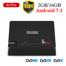 MECOOL KI Pro Android 7.1 DVB-S2 et DVB-T2 et DVB-C COMBO Smart TV Box 2 GB DDR4 16 GB Amlogic S905D 64 peu Quad Core KIpro Set-top Box