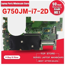 New!2D G750JM Motherboard G750JS REV 2.0 with i7 cpu For ASUS G750J G750Js laptop mainboard 100% OK free Usb board