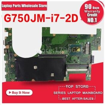 New!2D G750JM Motherboard G750JS REV 2.0 with i7 cpu For ASUS G750J G750Js G750JM laptop G750JM mainboard 100% OK free Usb board цена 2017