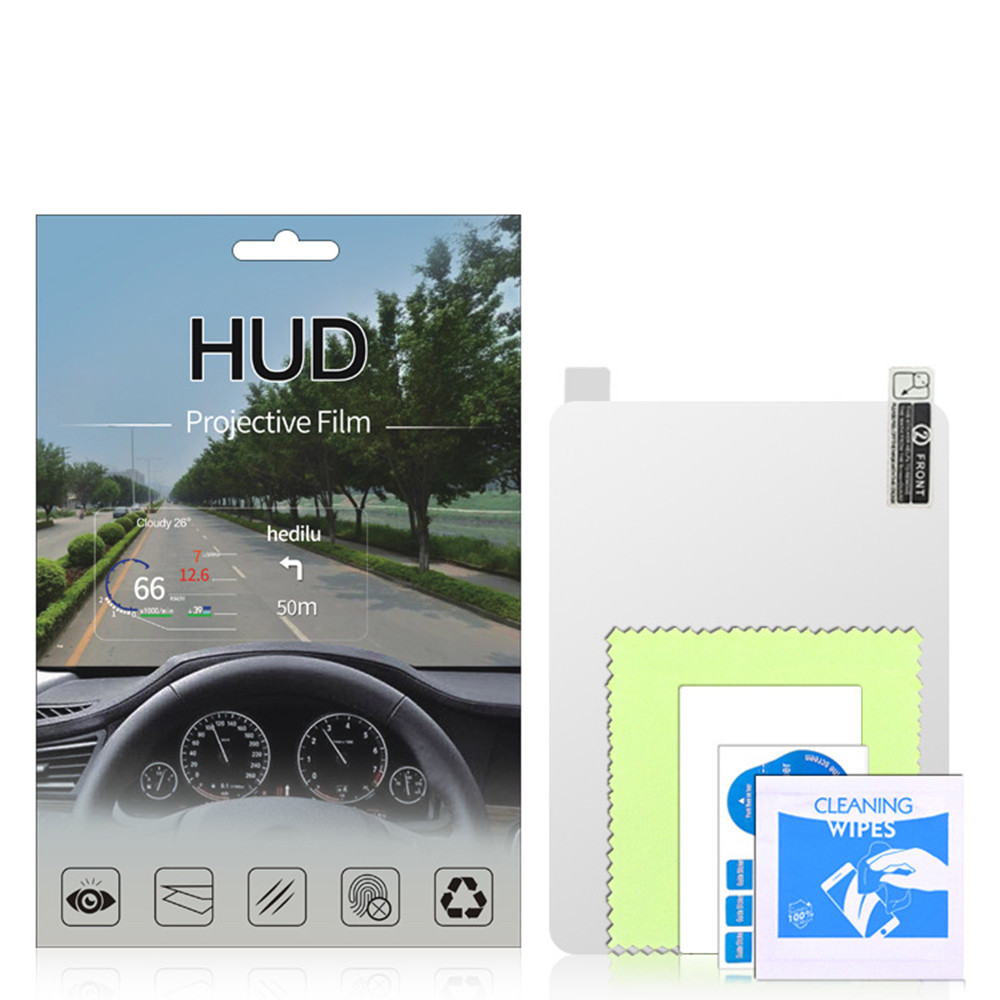 For 3-6inch Car HUD Reflective Film Head Up Display Protective Reflective Screen Consumption Overspeed Display Car Styling