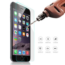 Front Explosion-Proof 9H 2.5D Tempered Glass for iPhone 5 5s SE 6 6s Plus 7 7 Plus 4 4s 5c Screen Protector Film Case Cover