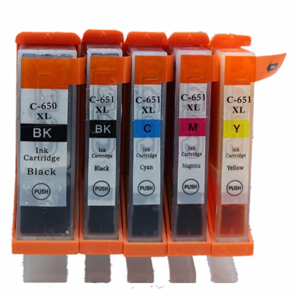 ჩანაცვლება PGI-650BK PGI-650 PGI650BK CLI-651 - საოფისე ტექნიკა