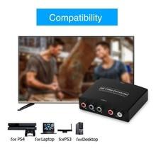 HDMI к 5RCA RGB компонент YPbPr видео + R/L аудио адаптер конвертер HD tv DVD