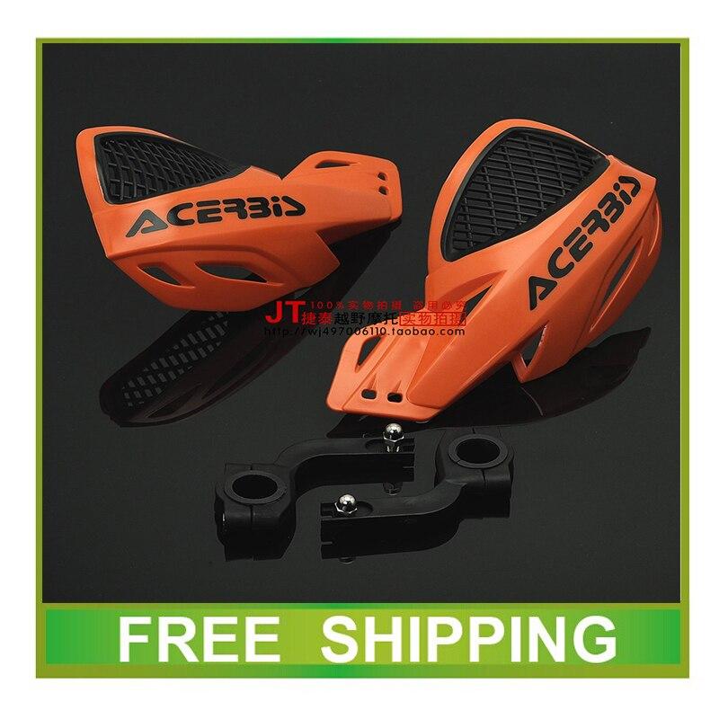 Envío gratis 110cc 125cc dirt bike pit bike accesorios para motocicletas 22mm 28mm manillar ktm crf yzf ttr moto cruz protector de la mano