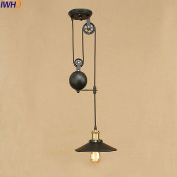 Iron Roller Skating Ceiling Lights Loft Vintage Industrial Ceiling Lamp Fixtures Home Lighting Bar Cafe Lamparas De Techo Avize