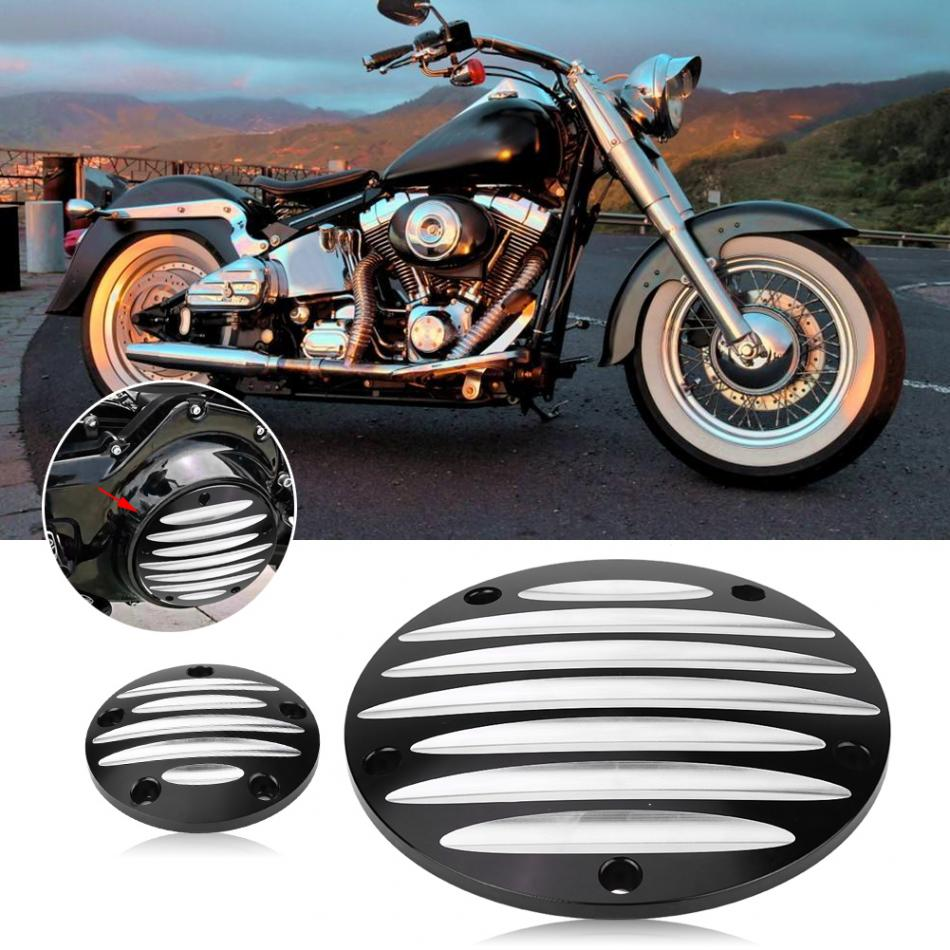 5 Hole Motorcycle Derby Timer Cover for Harley Davidson Touring FLHR FLSTF FXD FLD Dyna 2018 rsd motorcycle 5 hole beveled derby cover aluminum for harley touring flh t 2016 2017 for flhtcul and flhtkl 2015 2016 2017