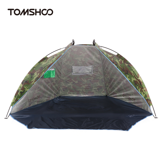TOMSHOO Beach Tent Camouflage C&ing Tent for 2 Person Single Layer polyester fabric Tents Sports Sunshade  sc 1 st  AliExpress.com & TOMSHOO Beach Tent Camouflage Camping Tent for 2 Person Single ...