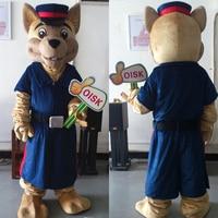 Ohlees индивидуальные полиции медведь Маскоты костюм Хэллоуин Рождество на день рождения наряды мультипликационный персонаж взрослых реальн