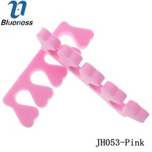 10Pcs/Package Soft Sponge Foam Toe Separator Pink Pedicure Tool Feet Care Braces JH053-Pink