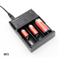 Free shipping High quality Charger Mainifire MF3 Charger 3 slot 3.6v/3.7v/4/2v charger 26650 18650 18350 battery charger 1pc