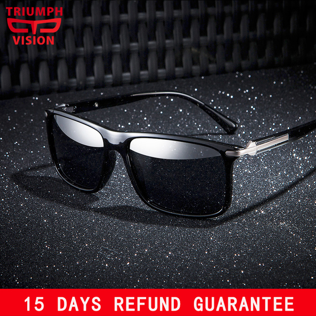 1233834e33c TRIUMPH VISION 2018 Sunglasses for men Polarized Cool Hinge Design Sun  Glasses Male Summer UV400 Black